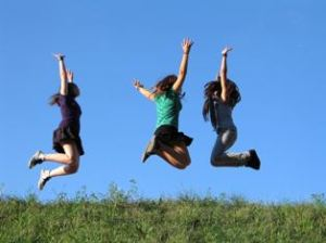 jump for happiness