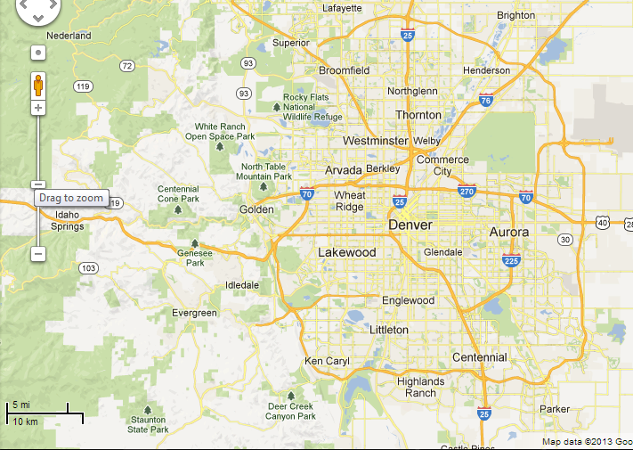 Denver relocation information and links – Tourist Attractions Map In Denver Colorado